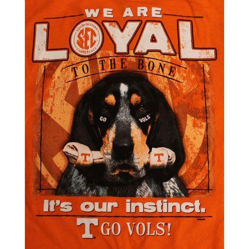 Tennessee Vols Football T-Shirts - Loyal To The Bone - Smokey