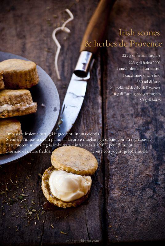Provencal's herbs scent, greek yogurt and honey...what else? #irishscones #monpetitbistrot