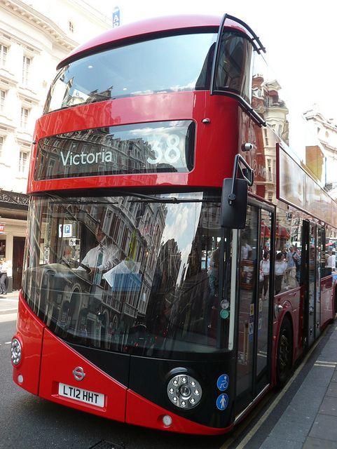 New Double-Decker Bus, London. Man.. Beautiful