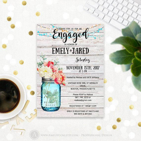 Pinterest'Teki 25'Den Fazla En Iyi Engagement Invitation Template