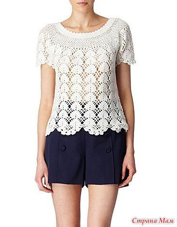 White Crochet top with charts