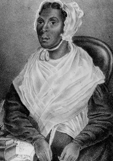 """A portrait of Jarena Lee, the first African American woman to publish an autobiography. Read more on the GenealogyBank blog: """"10 Famous African Americans in 17th & 18th Century History."""" http://blog.genealogybank.com/10-notable-african-americans-in-17th-18th-century-history.html"""