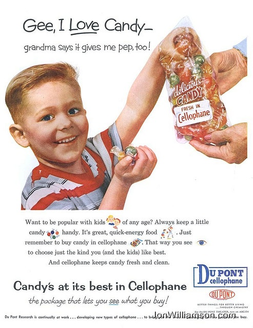 CANDY~Du Pont - 1957 candy ad