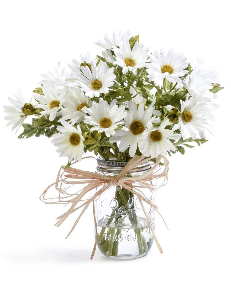 Farmhouse daisies silk flower arrangement flower