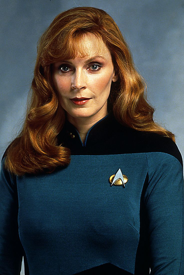 Gates McFadden, my first redhead inspiration. I wanted to be a doctor until my father told me that real medicine wasn't like Star Trek...