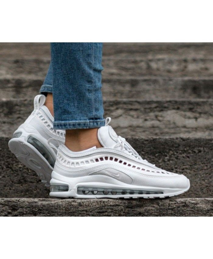 976c4e5b84286 Women s Nike Air Max 97 Ultra 17 SI White White Vast Grey Trainer ...
