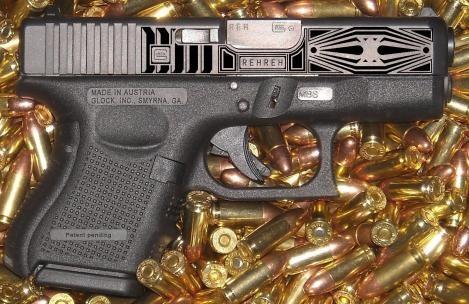 Glock 26 9MM Gold inlaid in olympic peninsula, Washington gun ...