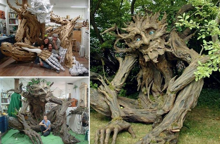 Amazing paper mache tree fairies of folly pinterest for Cool paper mache