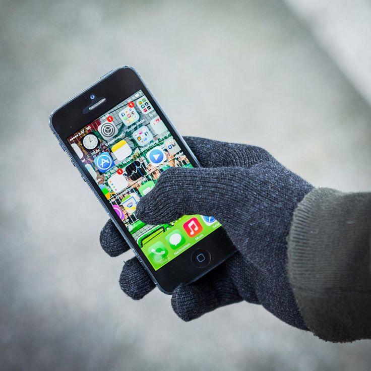 Winterfeste Touchscreen-Bedienung für Smartphones,etc. Und als wäre das noch nicht genug, haben unsere Touchscreen Handschuhe sogar Kontaktdrähte eingebaut!