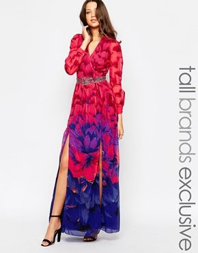 air max Maxi Splits       Maxis uk Front Dresses   Dress    Embellished womens   with Tall Double Little Mistress  Maxi Printed Mistress   Plunge Clothes and