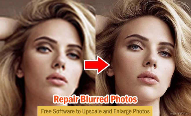 Free Software to Upscale and Enlarge Photos - A Sharper Scaling http://webneel.com/blurred-photo-retouch-repair-free-software | Design Inspiration http://webneel.com | Follow us www.pinterest.com/webneel