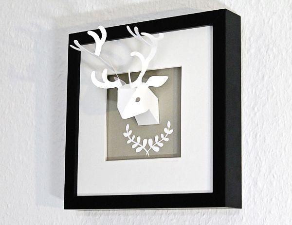 Deer trophy Paper art by faltmanufaktur