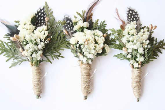 This Rustic Boutonniere, Wedding lapel flower, Woodland wedding boutonniere, Groomsmen buttonhole decoration, dried natural flower boutonniere