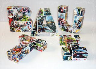 Letras corpóreas de papel - Los Vengadores - Avengers