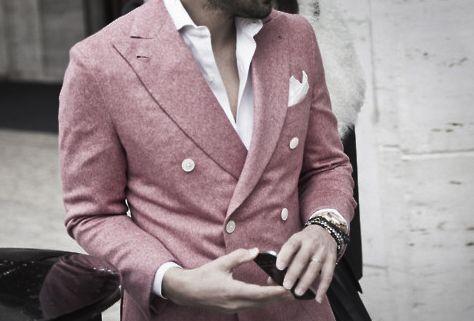 [!]Menfashion, Colors, Men Style, Double Breast, Men Fashion, Suits, Blazers, Pink, Men Wear