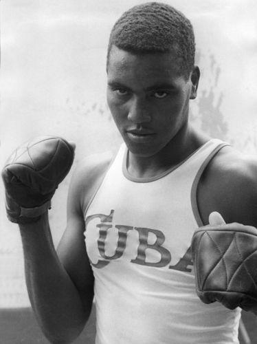 Cuban boxer Teofilo Stevenson stands for a portrait during the 1970s.