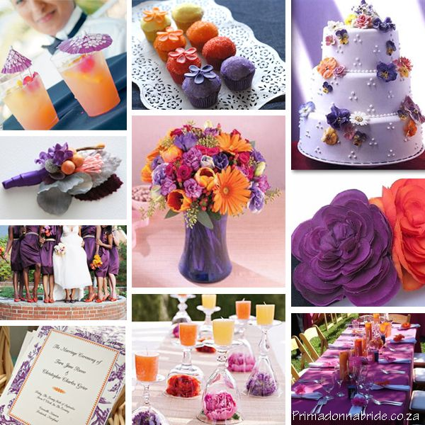 Find This Pin And More On Lavender Orange Wedding Colors