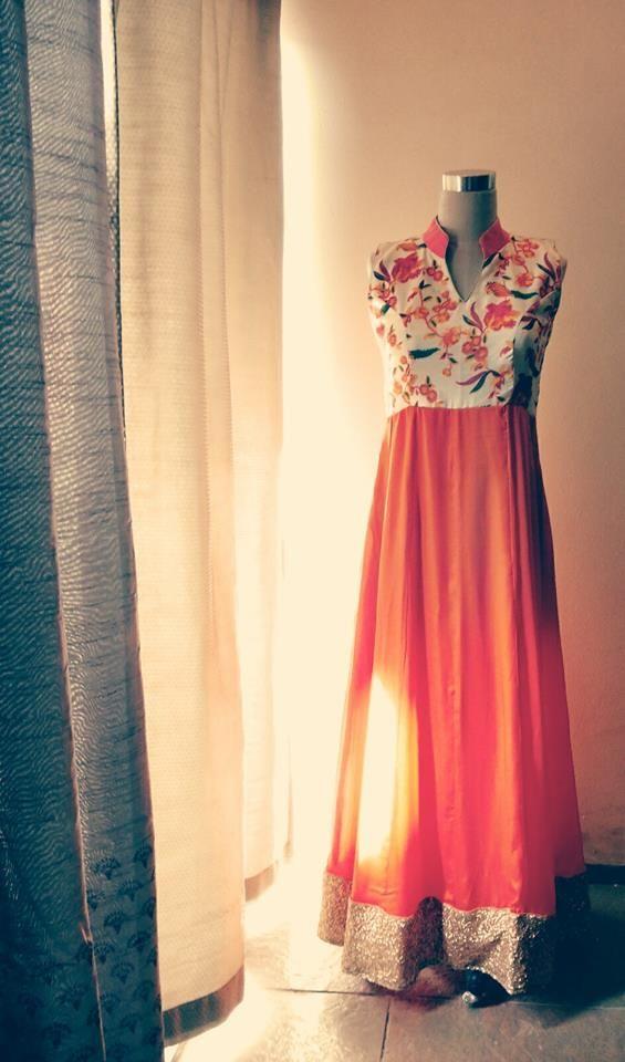Indowestern gown by Pushpak Vimaan