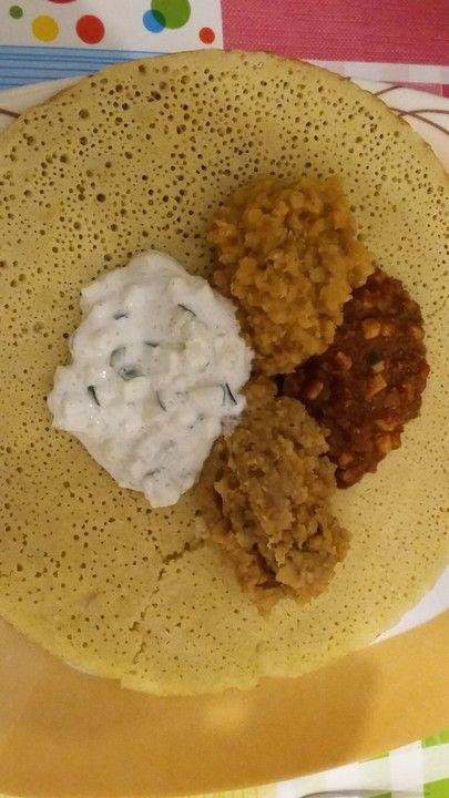 Injera, ein raffiniertes Rezept aus der Kategorie Brot und Brötchen. Bewertungen: 20. Durchschnitt: Ø 3,7.