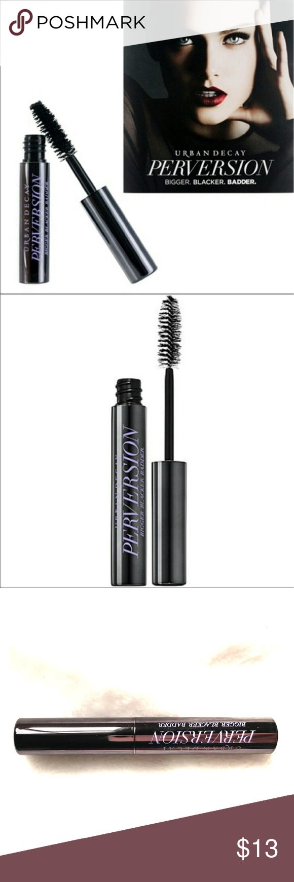 URBAN DECAY Perversion Mascara Travel Size Urban Decay Perversion Mascara new no box and unused. Travel Size 0.10oz. Black. Please let me know if you have any questions. 30% discount when bundling. No trades! Urban Decay Makeup Mascara