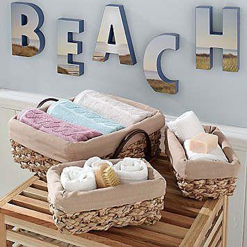 Beach theme bathroom