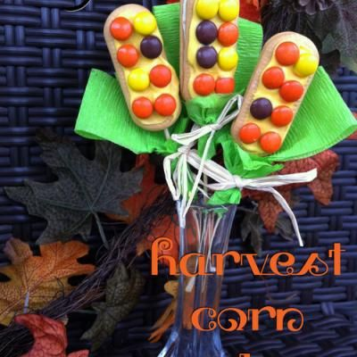 Harvest Corn Cookies {Edible Fall Crafts for Kids}
