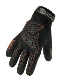 Ergodyne Medium Black ProFlex® Pigskin Full Finger Anti-Vibration Gloves With Elastic Cuff