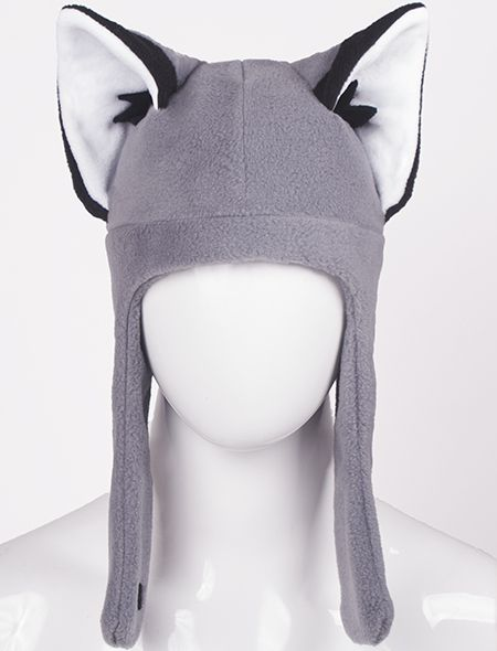 Wolf Hat - Need one of these for the winter, they look great and fun. :)