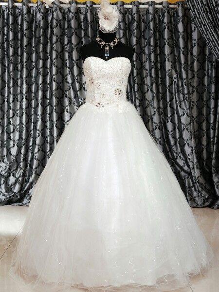 Wedding gown ekor tanpa ekor