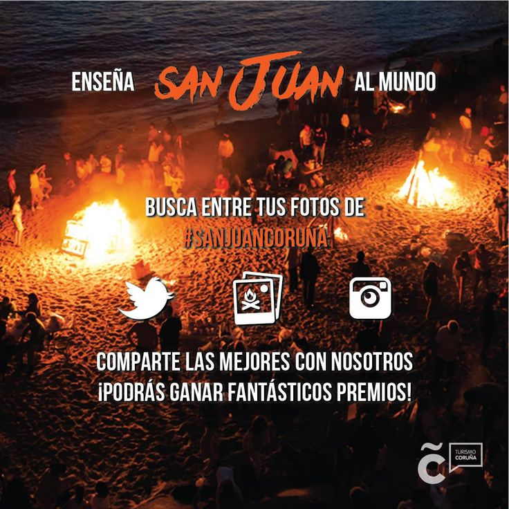 ¡#SanJuanCoruna ya es Fiesta de Interés Turístico Internacional! Ayúdanos a enseñar al mundo la noche más mágica del año y gana un vuelo fotográfico único o entradas para conciertos!  Bases: http://goo.gl/doRaxS