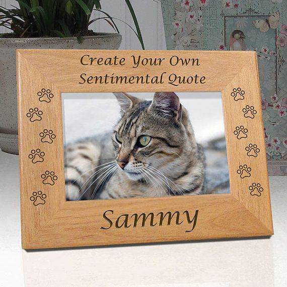 create your own personalized cat memorial picture frame unique cat lover gift