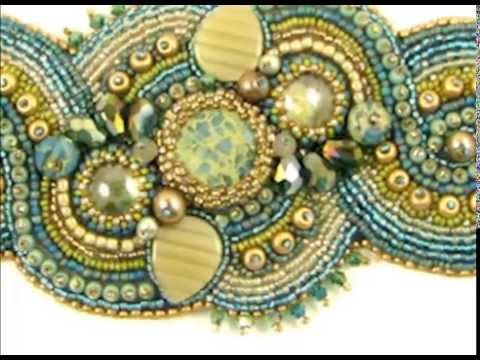 Beads East Bead Embroidery Two-Minute Class - YouTube