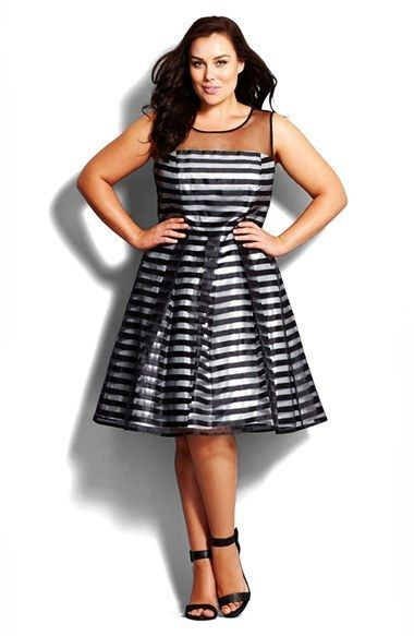 Plus Size Pretty Party Dress - Plus Size Fit & Flare Dress