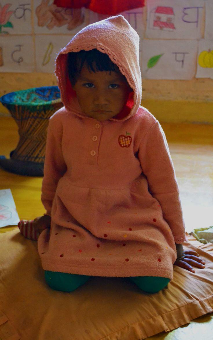 A little girl in an orphanage in Nagarkot