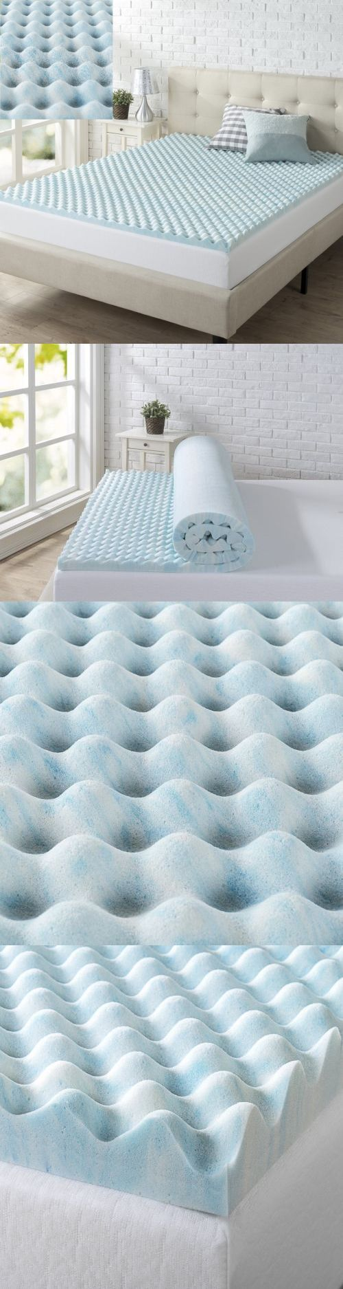 Mattress Pads and Feather Beds 175751: Memory Foam Topper Twin Size Mattress  Cooling Gel Orthopedic