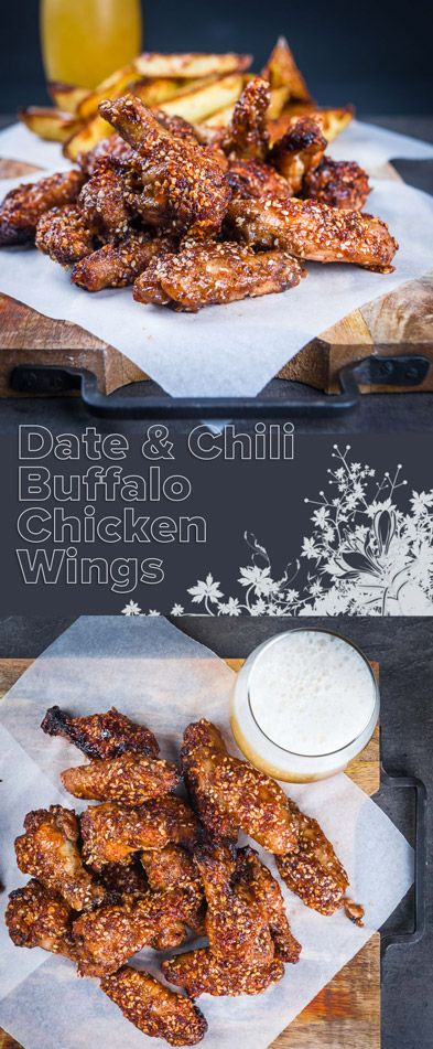 You can't beat buffalo chicken wings as finger food and these are pimped up with dates and a scotch bonnet chili in the glaze. Definitely not for the feint of heart! #wings #chili #chicken #chickendinner #chickenrecipes #spicy #recipe #recipeoftheday #recipeideas