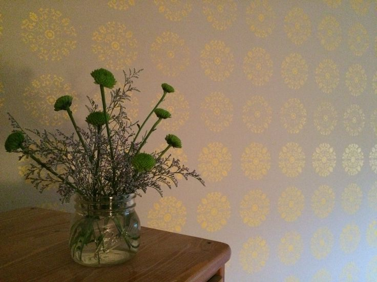 another hand-stenciled wall