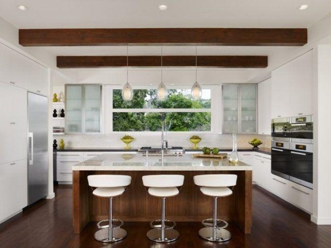 Küche modern holz  Die besten 25+ Moderne weiße küchen Ideen nur auf Pinterest ...