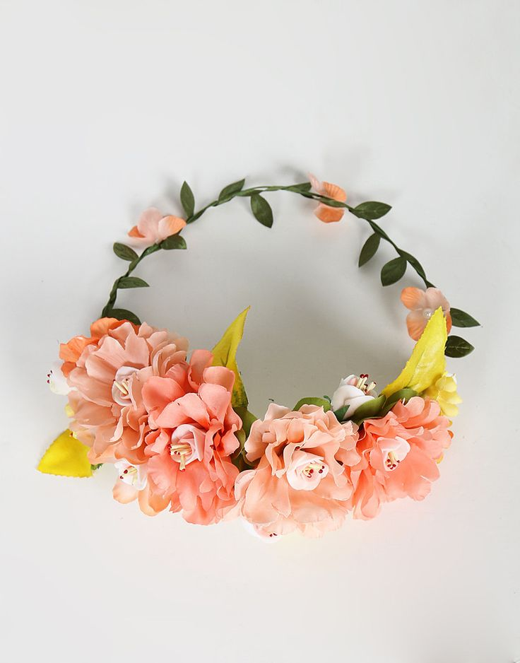 Assorted Jumbo Flower Crown - Peach – 2020AVE