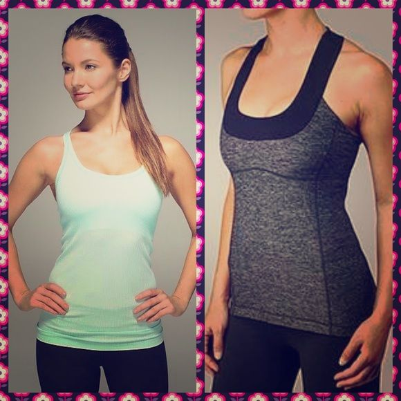 Lululemin bundle 2 tanks for $55! Price is firm. Both size 4. Very good condition. Also selling individually! lululemon athletica Tops