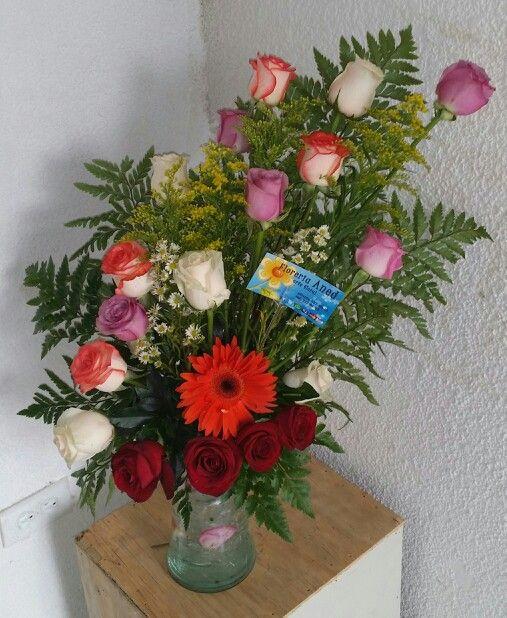 Docena y media de rosas