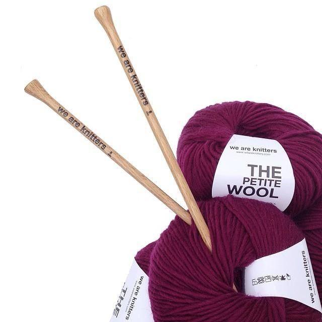 Burgundy wool