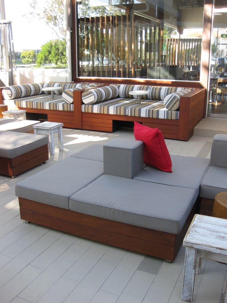 Bespoke banquet seating by Eurofurn for Brisbane's Regatta Hotel.