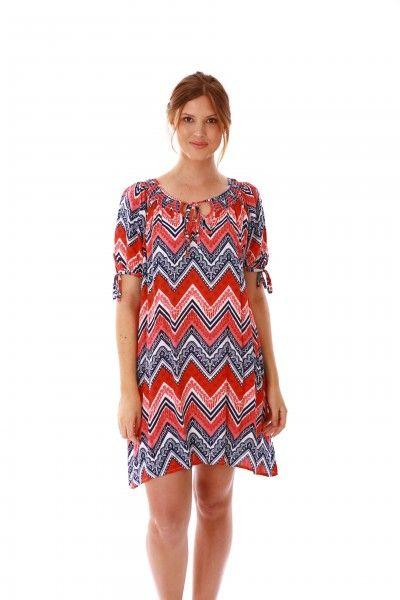 Zig Zag print summer dress jamjam Kaftans, Sandals & Sarongs