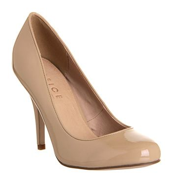 Office Less Is More Nude Patent - Mid Heels
