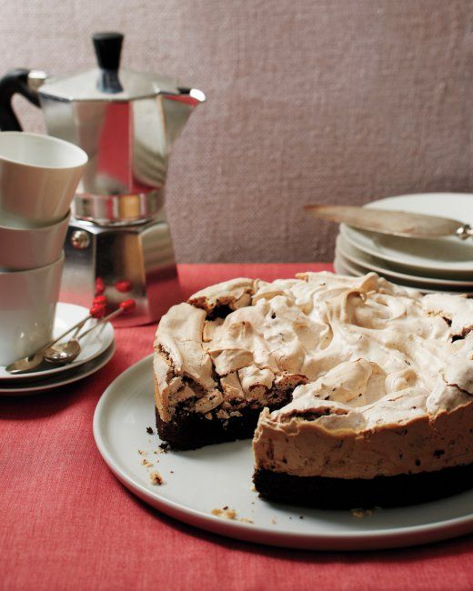 Peppermint-Meringue Brownie Cake | Recipe
