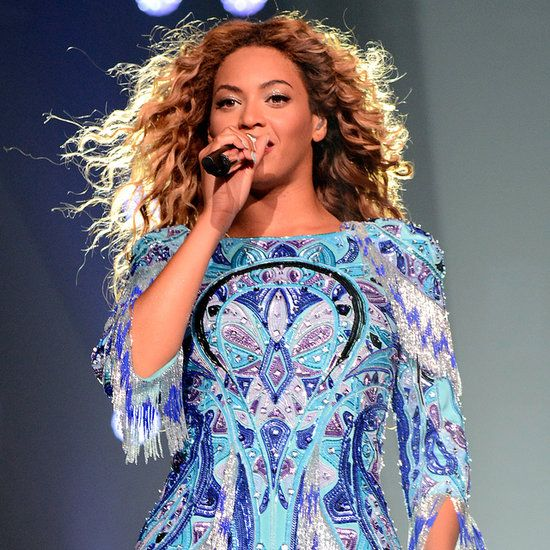 Beyonce Wearing An Embellished Dress Beyonce Pinterest Popsugar Blue Dresses And Fashion