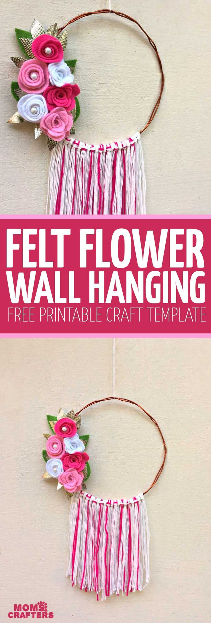 Best 25 felt wall hanging ideas on pinterest baby for Diy felt flower mobile