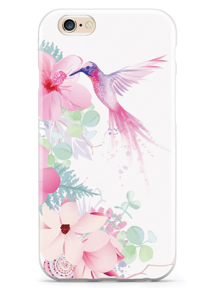 Pink and Purple Hummingbird Case for iPhone 6