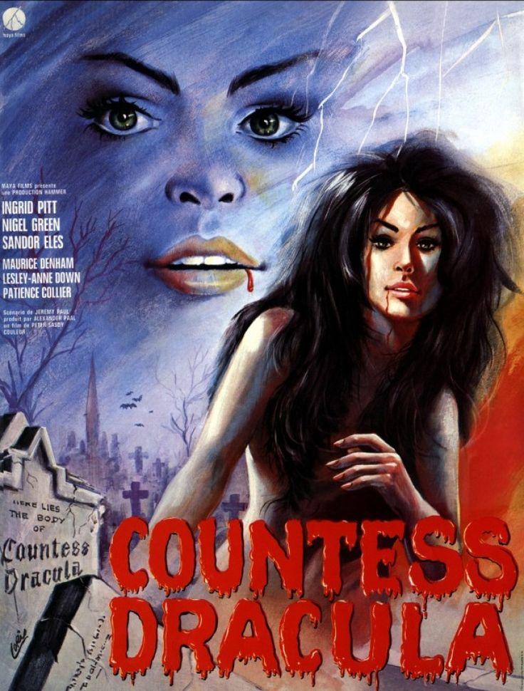 Great Countess Dracula Poster Countess Dracula 1971 Dracula Hammer Horror Films Best Vampire Movies